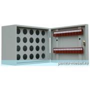 Металлический шкаф для ключей КЛ-20П с пеналом