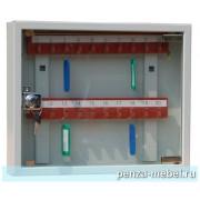 Металлический шкаф для ключей КЛ-20С со стеклянной дверцей