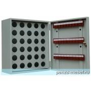Металлический шкаф для ключей КЛ-30П с пеналом