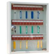 Металлический шкаф для ключей КЛ-30С со стеклянной дверцей
