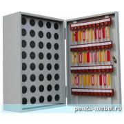 Металлический шкаф для ключей КЛ-40П с пеналом