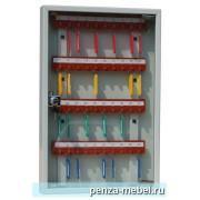 Металлический шкаф для ключей КЛ-40 со стеклянной дверцей