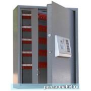 Металлический шкаф для ключей КЛЭ-200 с электронным замком