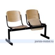 Блок стульев 2-местный, откидывающиеся сиденья