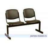 Блок стульев 2-местный, не откидывающиеся сиденья,  мягкий