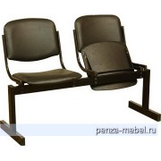 Блок стульев 2-местный, откидывающиеся сиденья, мягкий