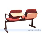 Блок стульев 2-местный, откидывающ., мягкий,  лекционный