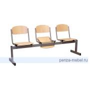 Блок стульев 3-местный, откидывающиеся сиденья