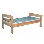 Детская кроватка одноместная на металлическом каркасе