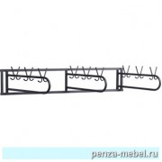 Вешалка настенная 18 крючков  (м/к черный)