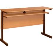 Стол аудиторный 2-местный, меламин, прямоугольная труба (м/к коричневый)