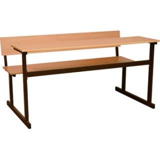 Стол аудиторный  2-местный (лавка за столом) пр. тр.  (м/к коричневый)