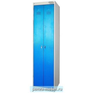 """Металлический шкаф """"Эконом"""" для одежды с двумя дверцами"""