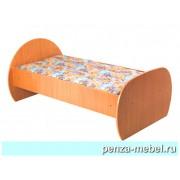 Кровать детская одноярусная ЛДСП на металлическом каркасе