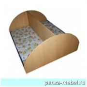 Кровать детская одноярусная двухместная ЛДСП
