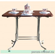 Стол обеденный на хромированном каркас