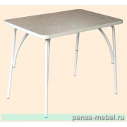 Стол обеденный на металлокаркасе пластиковая столешница